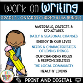 Work on Writing - Grade 1 Ontario Curriculum {BUNDLE}