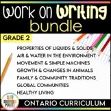 Work on Writing - Grade 2 Ontario Curriculum {BUNDLE}