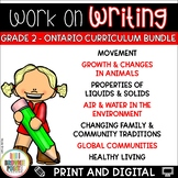 Work on Writing - Grade 2 Ontario Curriculum Bundle