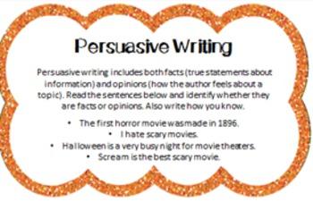 Writing Activities- HALLOWEEN