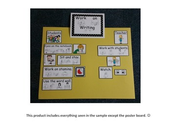 Work on Writing I-Chart with Sign Language/Visual Supports