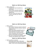 Work on Writing Ideas