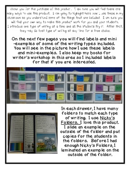 Work on Writing - Ideas for Writing Center