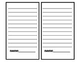 Work on Writing - List Template