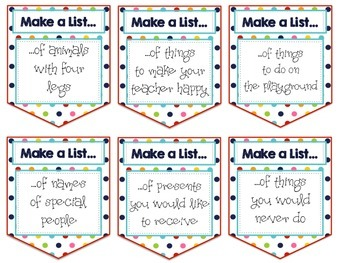 Work on Writing: Make a List {Back to School Edition}