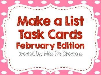 Work on Writing: Make a List {February Edition}