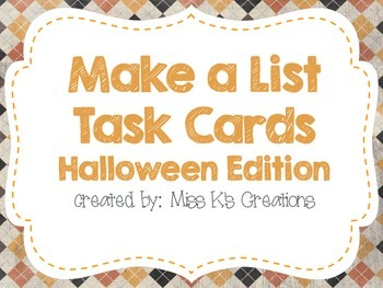 Work on Writing: Make a List {Halloween Edition}