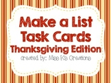 Work on Writing: Make a List {Thanksgiving Edition}