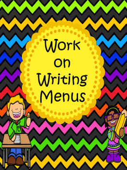 Work on Writing Menus