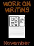 November Work on Writing (EDITABLE)