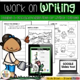 Work on Writing - Needs and Characteristics of Living Things