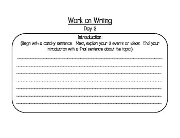 Work on Writing - Outlines