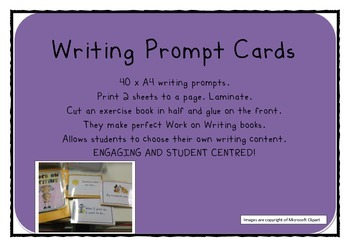 Work on Writing PROMPT CARDS