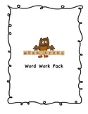 Word Work Pack - HANDWRITING WITHOUT TEARS COMPATIBLE