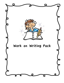 Work on Writing Pack - HANDWRITING WITHOUT TEARS COMPATIBLE