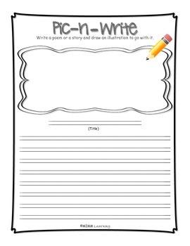Work on Writing - Pic -n- Write Template