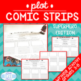Narrative Writing Plot Comic Strips-Superhero Edition