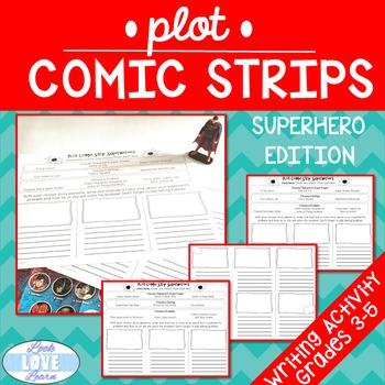 Narrative Writing Plot Comic Strips-Superhero Edition