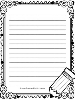 Work on Writing Stationary Expansion Pack