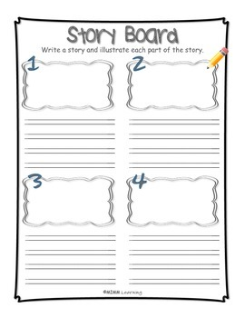 Work on Writing - Story Board Template