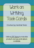 Work on Writing Task Cards (Sample)