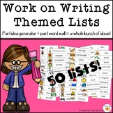 Work on Writing Themed Lists
