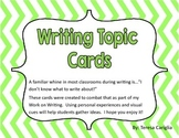 Work on Writing Topic Cards