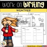 Work on Writing - Weather
