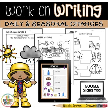 Work on Writing - Daily and Seasonal Changes