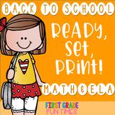 First Week of School Back to School Activities Cut & Paste