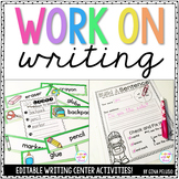 Work on Writing {Year Long Activities!}