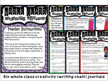 Work on Writing for Upper Elementary (Creative): Whole Class Chain Journals