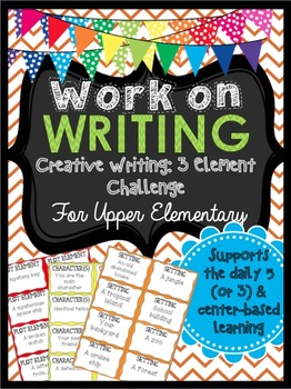 Work on Writing for Upper Elementary (Creative Writing): T