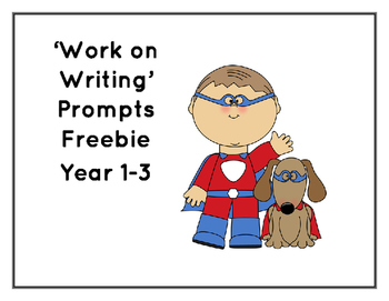 Work on Writing prompts