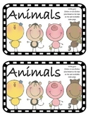 Work on WritingClass Journal Label:  Animals