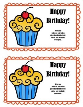 Work on WritingClass Journal Label:  Birthday