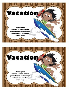 Work on WritingClass Journal Label:  Vacation