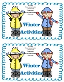 Work on WritingClass Journal Label:  Winter Activities