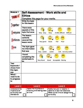 Work skills and Ethics Year 9 Workskills Workbook