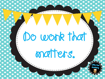 Work that Matters Classroom Poster