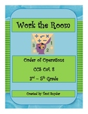 Work the Room- Order of Operations Activity