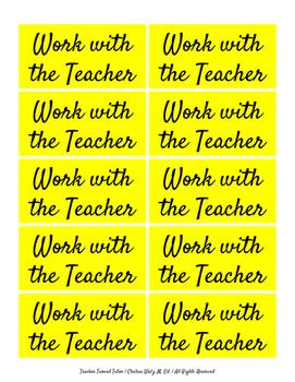 Work with the Teacher Cards