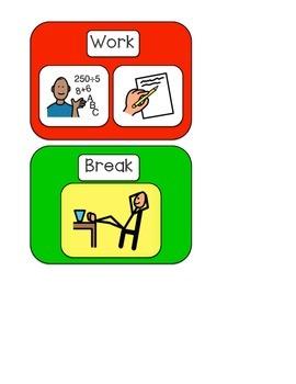 Work/Break Visual Support Card