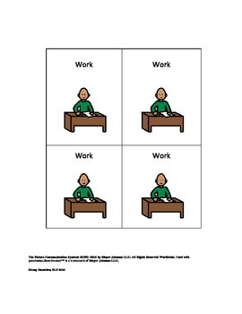 Work/Choice Visual Support Task Board for Speech Therapy