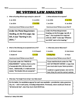 WorkKeys Reading for Information Voting Law Activity