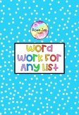 Work Work Printables For Any List