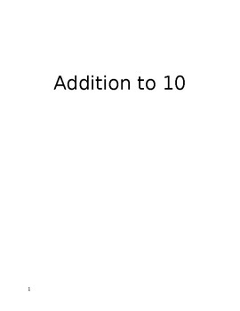 Workbook: Addition, Subtraction, Mixed Practice 10 or less