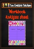 Workbook Analysis Teaching Resource