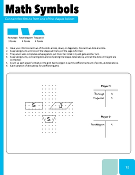 Workbook Game For Teaching Polygons & Quadrilaterals