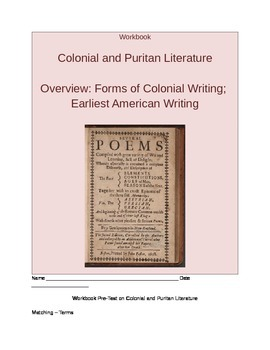 Workbook Pre-Test on Colonial and Puritan Literature